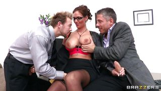 Brazzers-Sexy Brunette With Glasses Being Spanked Then Mouth Fucked PornZek.Com