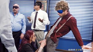 Brazzers-Cute Redhead Babe Wants To Blow Every Guy In The Office PornZek.Com