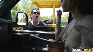 Get On The Bus And Let Maya Bijou Suck Your Dick!