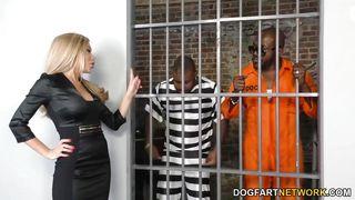 Dogfart Network-Subil Arch Takes Two Bbcs In Jail PornZek.Com