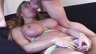 Milf Tranny Gags On Cock And Balls  Transsexual Gag Hags #02