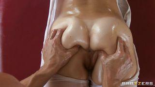 Brunette Milf With Hot Oiled Ass Needs A Dick