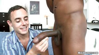 Sexy Black Guy Getting A Blowjob