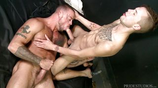 Sean Christopher Gets His Ass Hole Pounded By Big White Dick