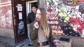 Russian Girl Is Excited To Be Picked Up
