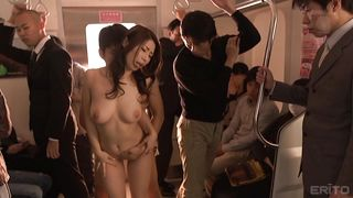 Japanese Babe Sucking Her Lover's Dick Right In The Subway Car