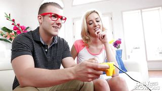 Blonde Hottie Haley Reed Gives Geeky Codey Steel A Bj