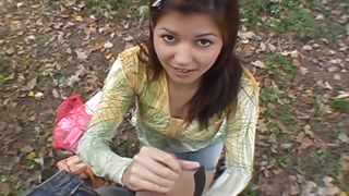 Public Invasion-Cute Smiling Girl Getting Fingered And Sucking Cock PornZek.Com