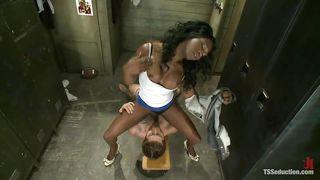 Interracial Kinky Sex In The Locker Room