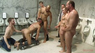 Gangbang In The Public Toilet