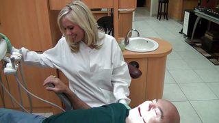 Gorgeous Blonde Dentist Gives A Blowjob PornZek.Com