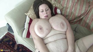 Busty Brunette Bbw Gets Fucked On Couch