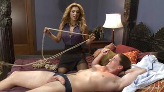 Sexy Transexual Dominates Her Slave