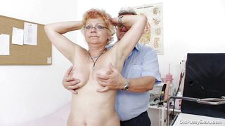 Old Pussy Exam-Old Blonde Comes To A Gynecologist Examine Her Body PornZek.Com