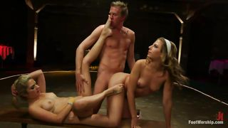 Two Blonde Bitches Playing Dirty With This Man