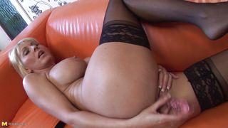 Mature Nl-Blonde Mature With Her Favorite Sex Toy PornZek.Com