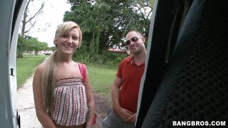 Stubborn Blonde Getting On The Bang Bus PornZek.Com