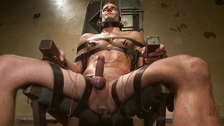 Tied On The Chair And Plug In
