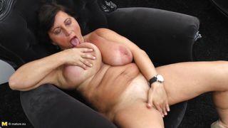 Mature Nl-Brunette Mature Licking Her Own Love Juice. PornZek.Com