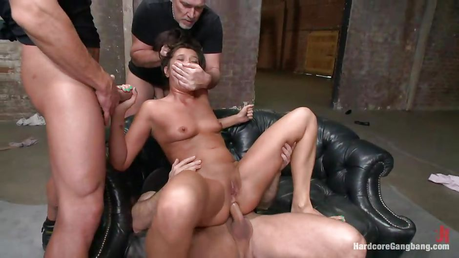 Milf getting gang banged