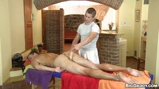Big Dildo In Hot Hairy Ass After Massage