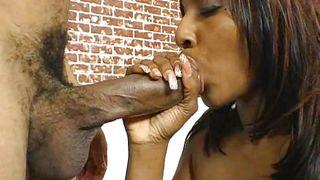Brunette Ebony Babe Getting A Hardcore Pleasure