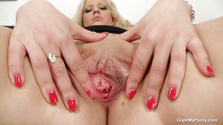 Czech Slut Showing Her Shaved Pussy