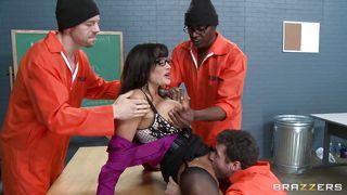 Three Criminals Groping Jail Teacher