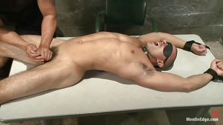 Rough Cock Massage For A Tied Gay With Hot Abs
