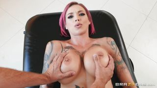 Tattooed Redhead Gets A Massage And A Fuck