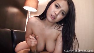Long Haired Slut Gives A Tremendous Titjob