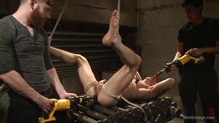 Kinky Two On One Gay Bondage Action