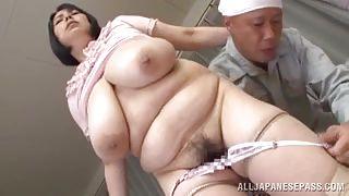 Huge Japanese Milf Gets Figered