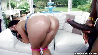 A Black Cock For Her Big Oiled Ass