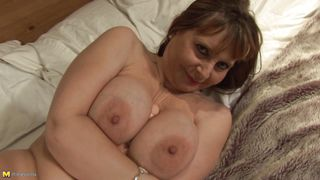 Big Boobs Mature Fucking Herself With A Dildo