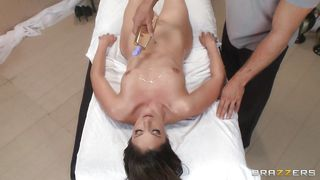 Brazzers-Dirty Masseur Takes The Full Control Of The Sexy Brunette's Body PornZek.Com