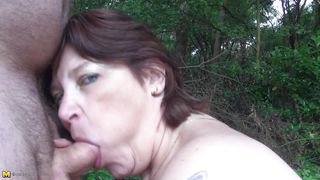 Mature Nl-Cock Addictive Mature Whore Sucking It Outdoors PornZek.Com