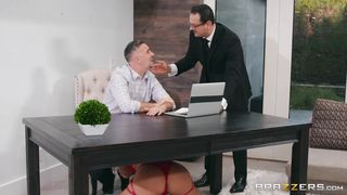 Slutty Blonde Sucks Dick During A Business Meeting