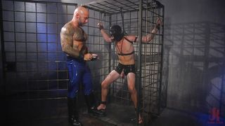 Electro Bdsm In A Huge Metal Cage