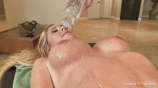 Brazzers-Horny Blonde Gets Her Pussy Fingered At Massage PornZek.Com