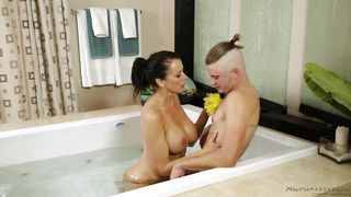 Hot Milf Washes Her Man