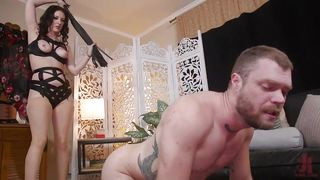 Cherry Torn Punishes And Whippes Her Submissive Slave