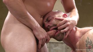 Oiled Bald And Mean Gay Wrestlers