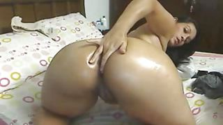 Latina Cam Girl Fingers Her Ass And Shows Her Tits