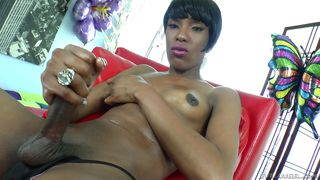 Black Tranny With Imposing Shapes