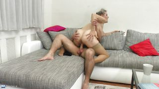 Mature Bitch Rides Cock