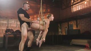 Cadence Was Fucked While Bound And Suspended