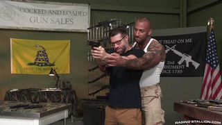 Tristan And Daymin Turn Their Gun-training Into Some Raging Sex  Gun Show
