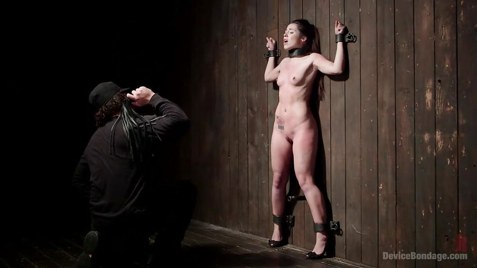 Bdsm tied to wall