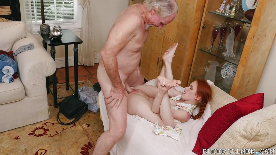 Teen tease old man